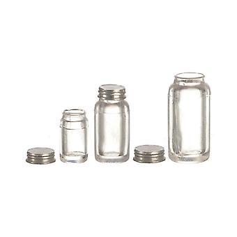 Panenky Dům Miniaturní 1:12 Měřítko Příslušenství Set 3 Prázdné Mason Sklenice s víčky