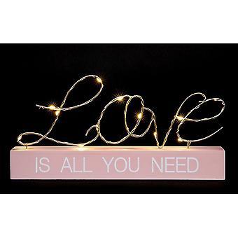 LED String Words Love