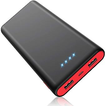 HETP Power Bank, Portable Charger 25800mAh [Newest Black-Red Design] High Capacity Power Banks