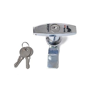 Rust Proof T-handle, Lock And Keys Replacement For Trailer, Caravan, Canopy