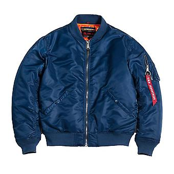 Blue Men's Bomer Air Force Pilot Jacket, Thin Coats - Outwear Clothing
