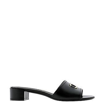 Salvatore Ferragamo 741266 Dames's Zwart lederen sandalen