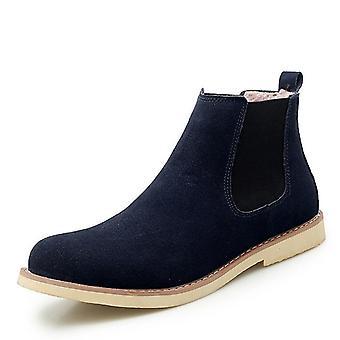 Winter Warm Plush Boots, Cow-suede Chelsea, Non-slip Snow Boots