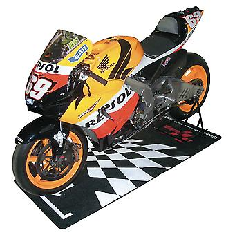 Bike It MotoGP Parc Ferme Design Garage Pit Work Mat Nylon Fibra Nera 190x80cm