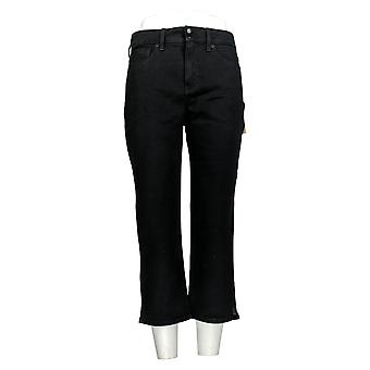 NYDJ Women's Jeans Cool Embrace Skinny Crop Side Slits Black A377694