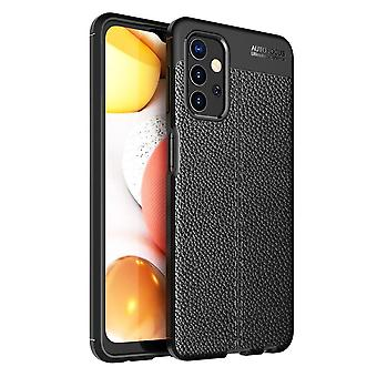 Samsung Galaxy A32 5G TPU Shell Litchi Textur - Schwarz