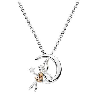 Dew Silver Fairy And Moon With Rose Gold Plate Pendant 9740RG022