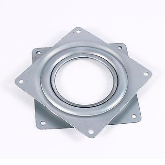 4 Inch Square Rotating Swivel Plate, Replacement Metal Lazy Susan Bearing