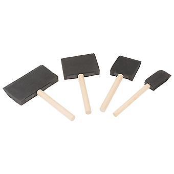 Major Brushes Foam Brush Set - Pack of 4