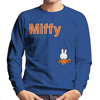 Miffy Holding Paint Brushes Men's Sweatshirt