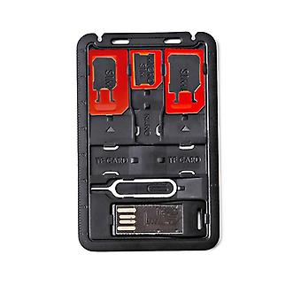 Credit Card Size Slim Sim Adapter Kit With Tf Card Reader
