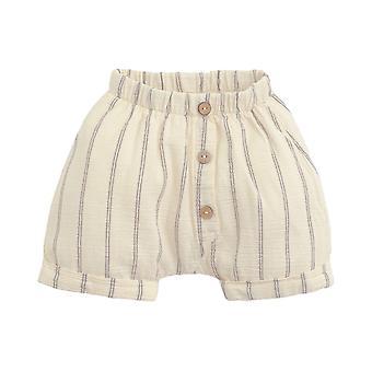 Jouez à Des shorts tissés rayés