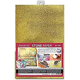 סטמפריה נייר אבן A4 זהב