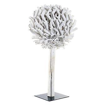 Dekoration Dekodonia Baum kreisförmigen weißen Holz