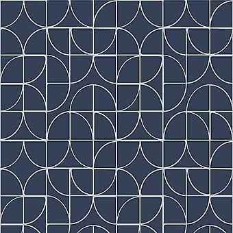 Symmetri geometriska former Tapeter Marin / Silver Rasch 310108
