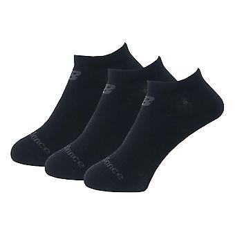 New Balance Performance Cotton Cushioned 3 Pack No Show Socks - Black