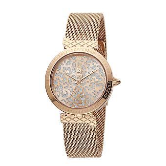 Nur Cavalli Animalier japanische Bewegung Damen Armband Uhr in Rose Gold Ton