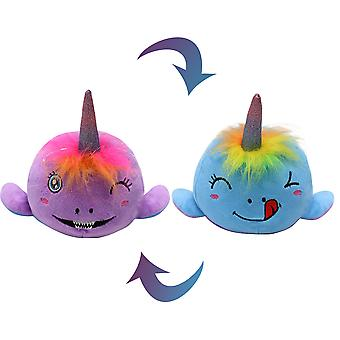 Flip the reversible plush New toy cute doll a plush toy with relaxing emotions and double-sided expressions