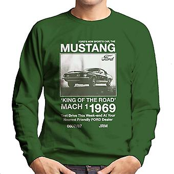 Ford The New Sports Car The Mustang Men's Sweatshirt