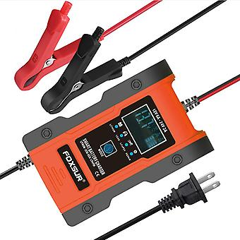 Intelligent car battery chargers portable cell motorcycle auto batteries with lcd digital display