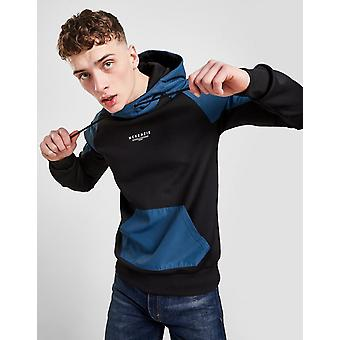 New McKenzie Men's Dami Woven Overhead Hoodie from JD Outlet Black
