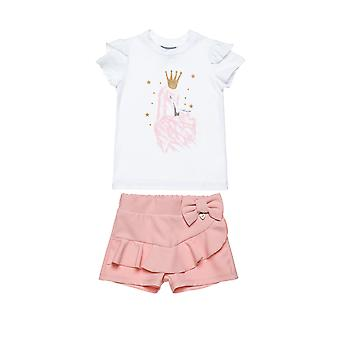 Alouette Girls' Blouse Set With Shorts Elastic Fabric