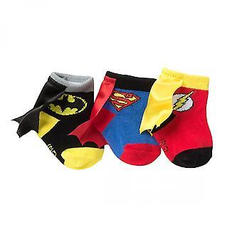 DC Comics Hero Logo Sock Booties 3-Pack