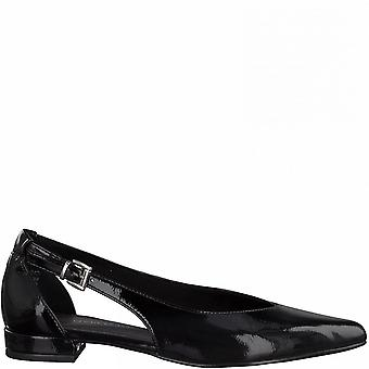 Black Patent Casual Low Heel Flats