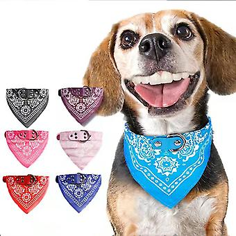 Cute Adjustable Small Dog Collars Puppy Pet Slobber Towel Outdoor Cat Collar Print Scarf Design Dog Collar Neckerchief
