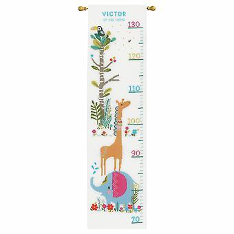 Vervaco telt korssting kit: høyde diagram: jungel dyr moro