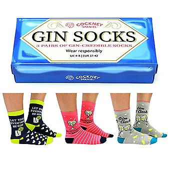 Boxed Set of Ladies Fun Novelty Gin Socks