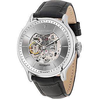 Maserati R8821118005 Men's Epoca Automatic Black Strap Wristwatch