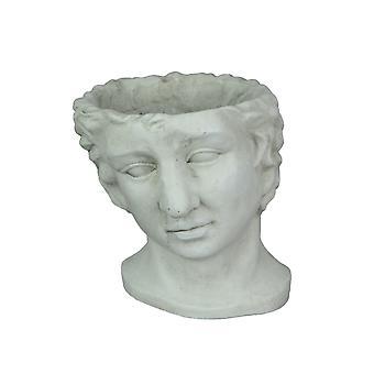 Harts klassisk grekisk statyhuvudplanterare dekorativ bystblomma kruka växt vas