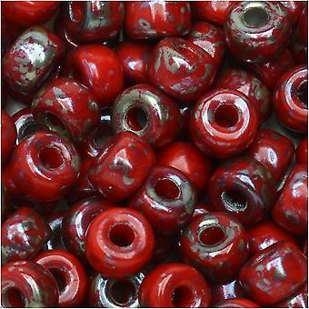Matubo de verre tchèque, perle de graine 2/0, tube de 20 grammes, rembrandt rouge