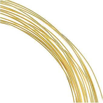 The Beadsmith Non-Tarnish Gold Plated Copper Half Round Craft Bead Wire 21Ga (12Ft)