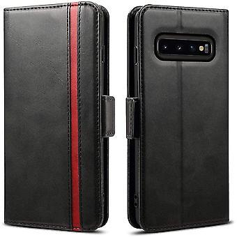 FengChun Galaxy S10 Hülle, Samsung Galaxy S10 Handyhülle [3 Kartenfächer ] Tasche Leder Schutzhülle