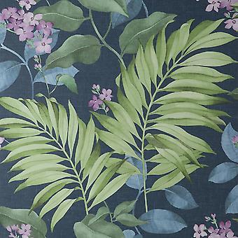 Eden Tropical Blue Wallpaper