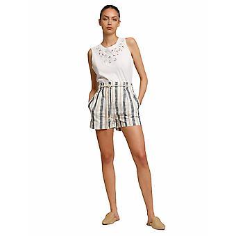 Shorts a rayas Shuuk con cinturón de cuerda