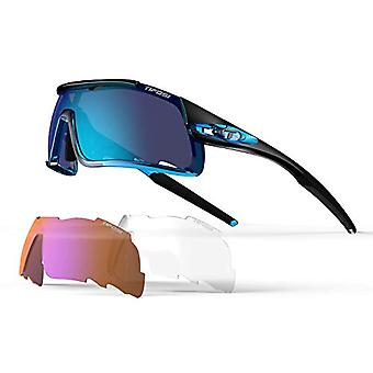 Davos Fans - Interchangeable sunglasses with blue lenses, unisex, one size fits all, color: Blue