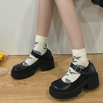 Winter Gothic Punk Women Platform Boots - Matte Black