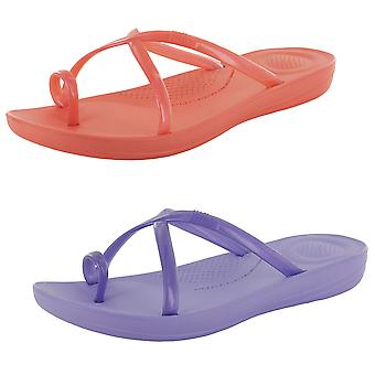Fitflop Womens Iqushion Wave Slide incrociate perle