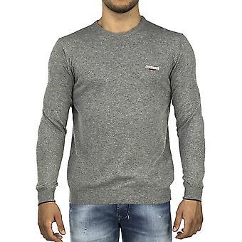 Roberto Cavalli Sport Men Pullover cuello de la tripulación gris