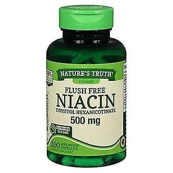 Nature's Truth Nature'S Truth Flush Free Niacin Quick Release Capsules, 500 mg, 100 Caps