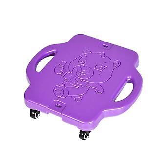 Scuter sport în aer liber din plastic pentru copii cu patru roți (Purple)