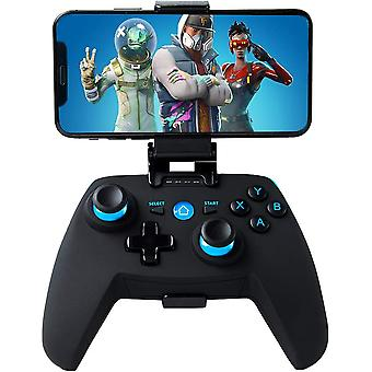 Controlador Android / PC / PS3, Bluetooth Wireless Android Mobile Game Controller com suporte retrátil, 2.4G Wireless Controller PC / PS3 / TV Gamepad Joystick com Vibração Dupla (preto)