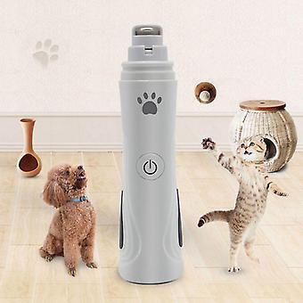 Σκύλος νυχιών μύλος και clippers 3-ταχύτητα επαναφορτιζόμενη ηλεκτρική χλοοκοπτικό νυχιών κατοικίδιων ζώων
