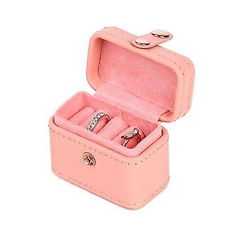 Travel Jewellery Double-layer Earring Necklace Ring Storage Box