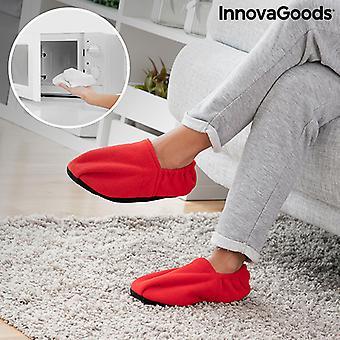 Zapatillas calefactables microwavable InnovaGoods Rojo