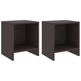 vidaXL bedside tables 2 pcs dark brown 35x30x40 cm pine solid wood