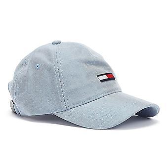 Tommy Jeans Vlajka Wash Denim Dámské Modré Čepice